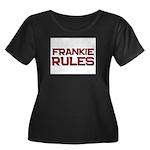 frankie rules Women's Plus Size Scoop Neck Dark T-