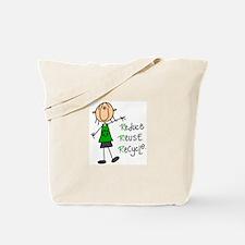 Recycle Girl Tote Bag