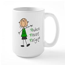 Recycle Girl Large Lefty Mug