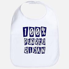100% Puerto rican Bib