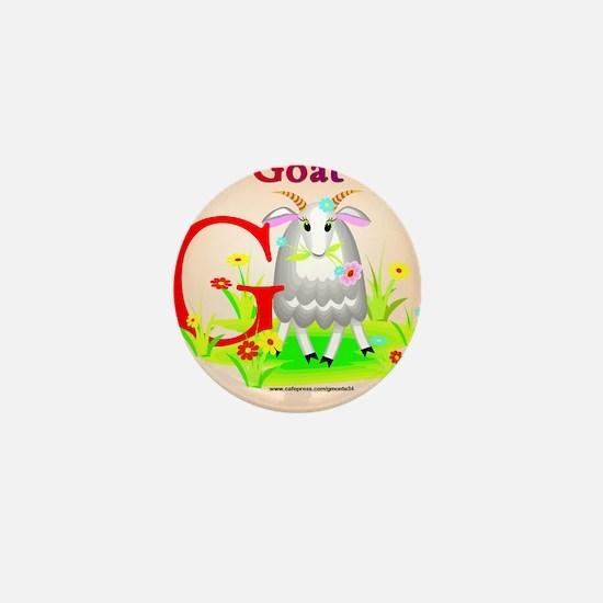 Goat Mini Button