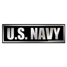 U.S. Navy Metalic Bumper Bumper Sticker
