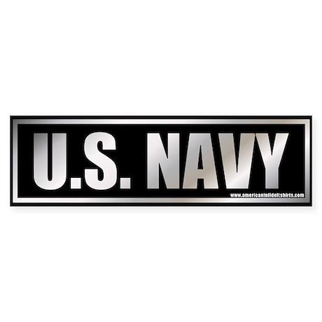 U.S. Navy Metalic Bumper Sticker