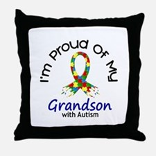 Proud Of My Autistic Grandson 1 Throw Pillow