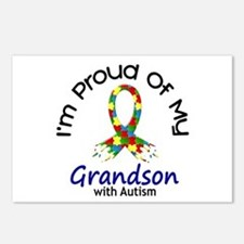 Proud Of My Autistic Grandson 1 Postcards (Package