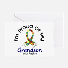 Proud Of My Autistic Grandson 1 Greeting Card
