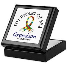 Proud Of My Autistic Grandson 1 Keepsake Box
