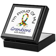 Proud Of My Autistic Grandsons 1 Keepsake Box