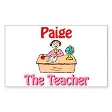 Paige the Teacher Rectangle Decal