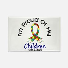 Proud Of My Autistic Children 1 Rectangle Magnet (