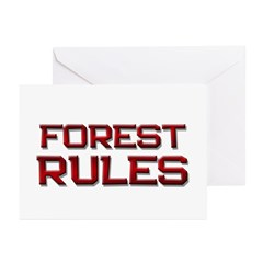 forest rules Greeting Cards (Pk of 20)