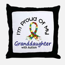 Proud Of My Autistic Granddaughter 1 Throw Pillow