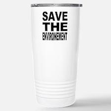 Funny Save the sharks Travel Mug