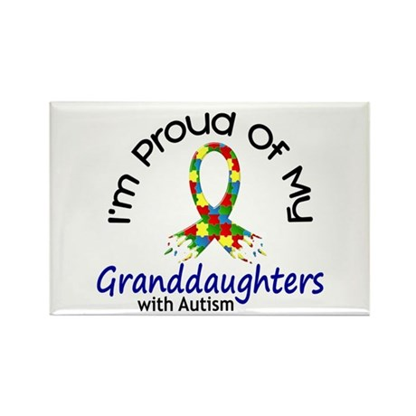 Proud Of My Autistic Granddaughters 1 Rectangle Ma