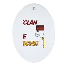 Declan to the Rescue Oval Ornament