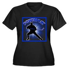 Powerplay Women's Plus Size V-Neck Dark T-Shirt