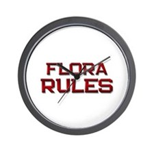 flora rules Wall Clock