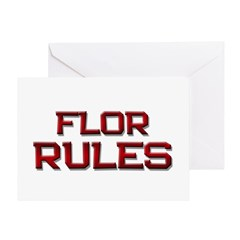 flor rules Greeting Card