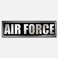 Metalic Air Force Bumper Bumper Bumper Sticker
