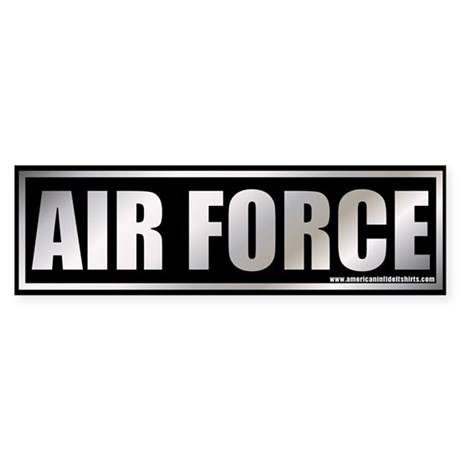 Metalic Air Force Bumper Sticker