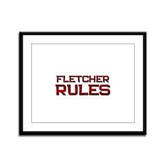 fletcher rules Framed Panel Print