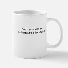 My husband's a law student Mug