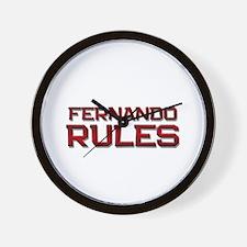 fernando rules Wall Clock