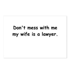 My wife's a lawyer Postcards (Package of 8)