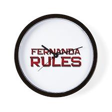 fernanda rules Wall Clock