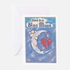 Cute Once in a blue moon Greeting Cards (Pk of 10)