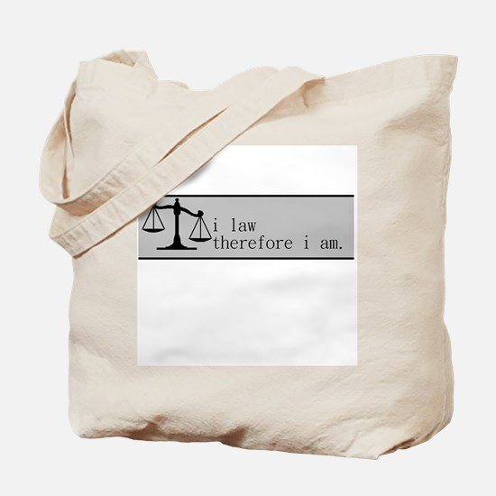 i law therefore i am (banner) Tote Bag