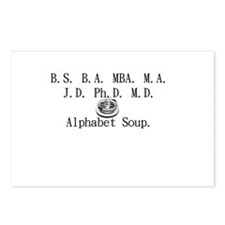 Alphabet Soup Postcards (Package of 8)