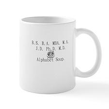 Alphabet Soup Small Small Mug