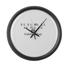 Alphabet Soup Large Wall Clock