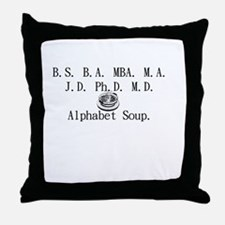 Alphabet Soup Throw Pillow