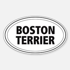 Boston Terrier Oval Decal