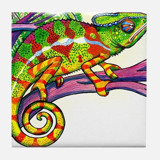 Cute Lizard skin Tile Coaster