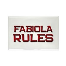 fabiola rules Rectangle Magnet