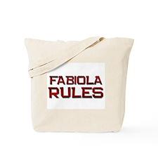 fabiola rules Tote Bag