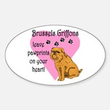Brussels Griffon Pawprints Oval Decal