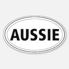 Australian Shepherd Oval Decal