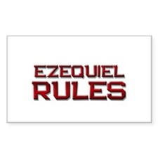 ezequiel rules Rectangle Decal
