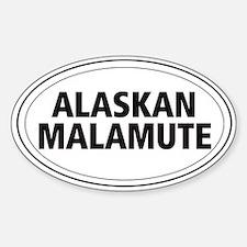 Alaskan Malamute Oval Decal