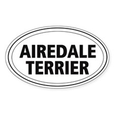 Airedale Terrier Oval Decal