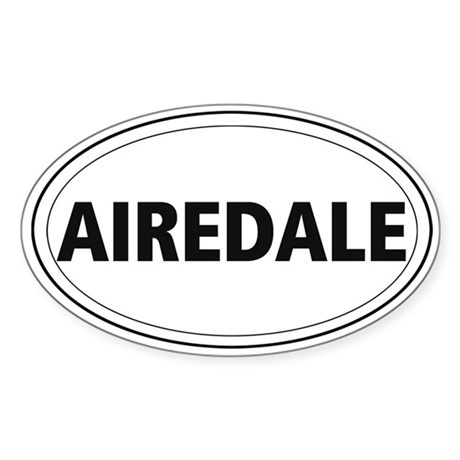 Airedale Oval Sticker