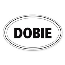 "Doberman ""Dobie"" Oval Bumper Stickers"