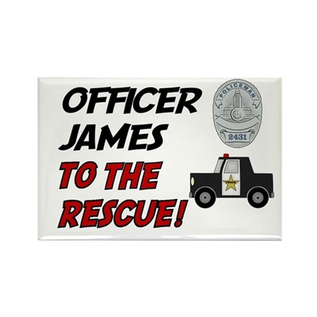 James - Police Rescue Rectangle Magnet