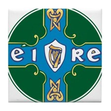 Eire Cross Tile Coaster