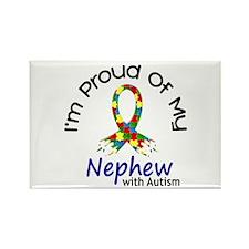 Proud Of My Autistic Nephew 1 Rectangle Magnet