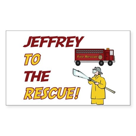 Jeffrey - Police Rescue Rectangle Sticker
